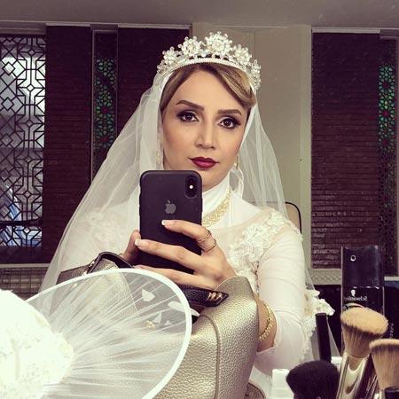 عکس لو رفته شبنم قلی خانی بازیگر زن سینما در لباس عروسی